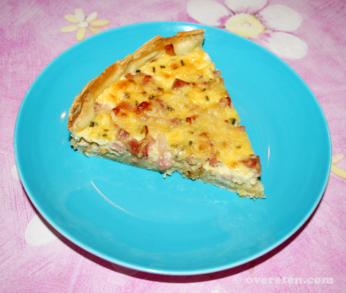 Quiche met spek en ui (1)