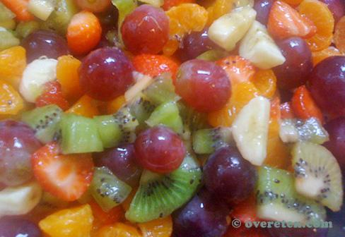 koken voor grote groepen: fruitsalade – overeten