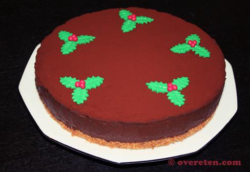 Chocoladetruffeltaart voor Kerst (2)