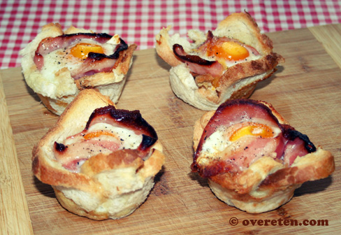 Toastmuffins met spek en ei (2)