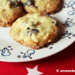 Cranberrykoekjes met witte chocolade