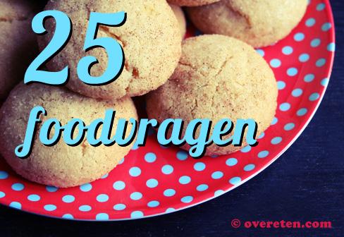 25 Foodvragen