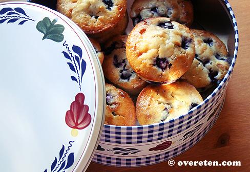 Blauwe bessen muffins (1)